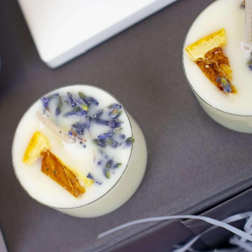 Lemon & Lavender Scented Tea Light Candles