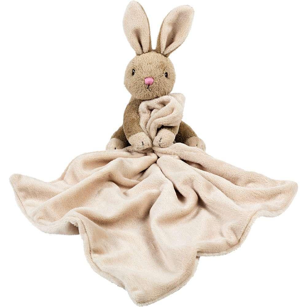 Bunny Rabbit Clutching Blankie