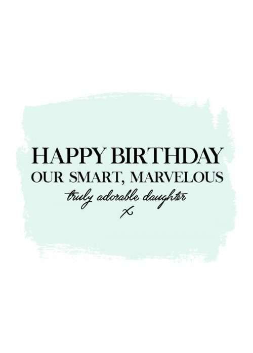 Truly Adorable Daughter Birthday Card