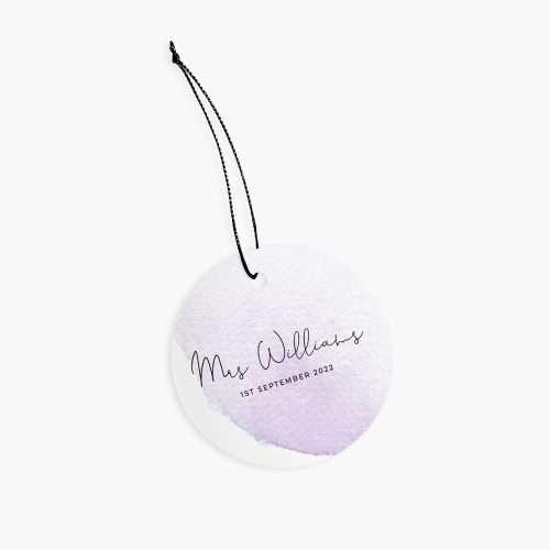 Personalised Wedding Purple Watercolour Ceramic Keepsake