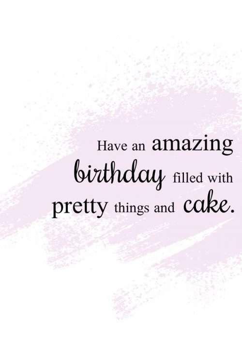 Pretty Things & Cake Birthday Card