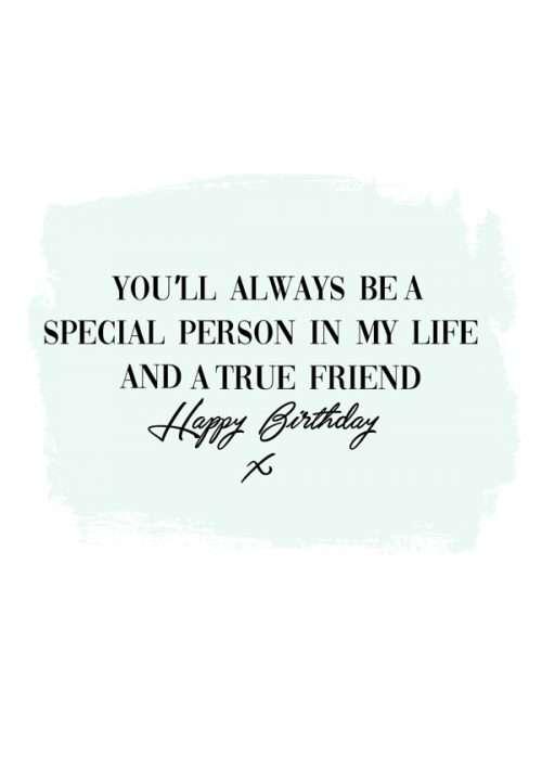 True Friend Birthday Card