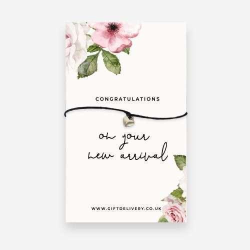 New Baby Girl Congratulations Wish Bracelet