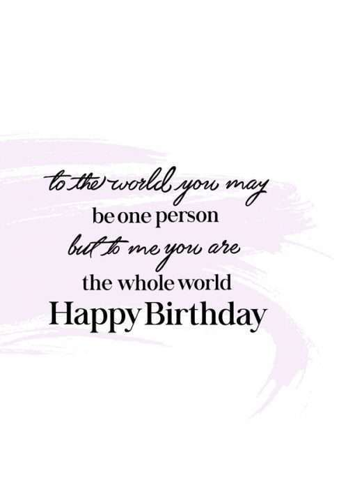 To Me You Are The Whole World Birthday Card