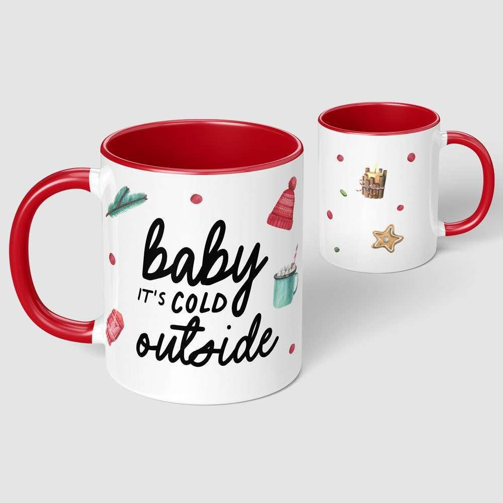 Baby it's Cold Outside Christmas Mug