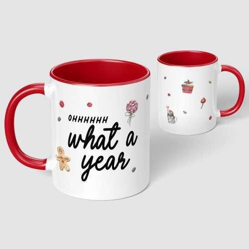 Ohhhhhh What a Year Christmas Mug