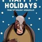 Holiday Armadillo Friends Christmas Card